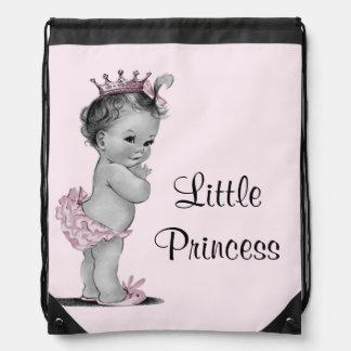 La poca bolsa de pañales de la princesa rosa bebé  mochilas