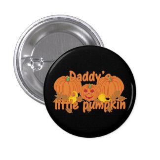 La poca calabaza Halloween del papá Pin Redondo De 1 Pulgada