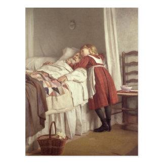 La poca enfermera del abuelo tarjetas postales
