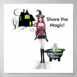 ¡La poción del Anti-Estigma, comparte la magia! Póster