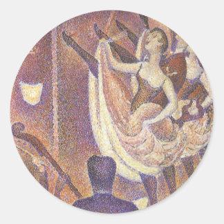 La poder puede bailar, Le Chahut de Jorte Seurat Pegatina Redonda