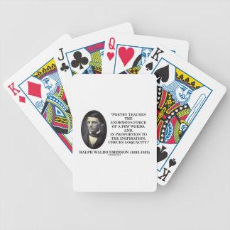 La poesía enseña a la fuerza enorme de la cita de baraja cartas de poker
