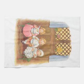 La poesía infantil de los niños calientes de las g toalla de cocina