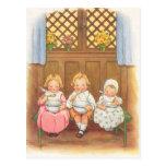 La poesía infantil de los niños calientes de las g postales