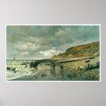 La Pointe de La Heve, 1865 Claude Monet Print
