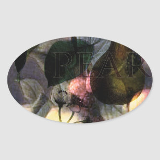 La Poire #2 Oval Sticker