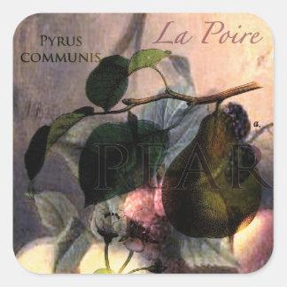 La Poire #2 Square Stickers