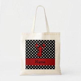 La polca blanca personalizada del negro rojo conoc bolsas de mano