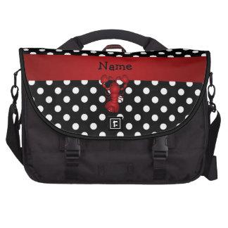La polca blanca personalizada del negro rojo conoc bolsas de ordenador