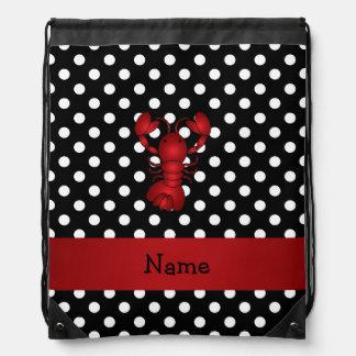La polca blanca personalizada del negro rojo conoc mochilas