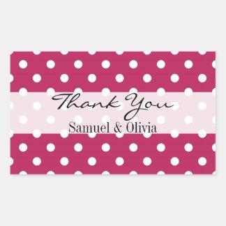 La polca de encargo del rectángulo rosado de pegatina rectangular