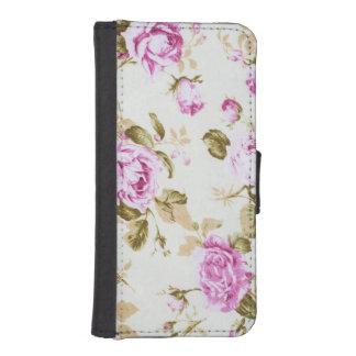 La polca elegante lamentable floral del vintage fundas billetera para teléfono