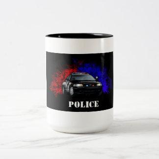 La policía asalta tazas de café
