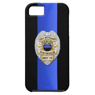 La policía Badge - Blue Line fino iPhone 5 Cárcasa