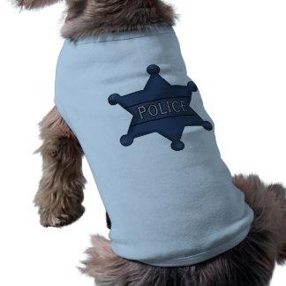 La policía Badge camisetas del perro Playera Sin Mangas Para Perro