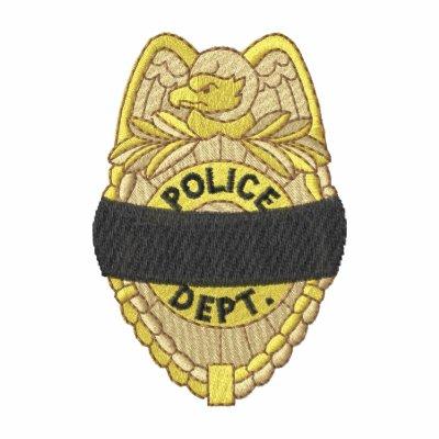 La policía Badge con la banda