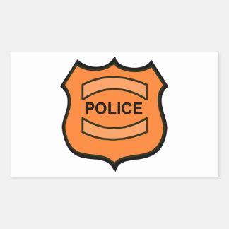 La policía Badge Rectangular Pegatinas