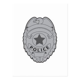 LA POLICÍA BADGE TARJETA POSTAL