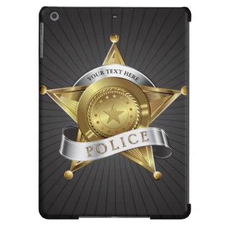 La policía captura la insignia de la seguridad funda para iPad air