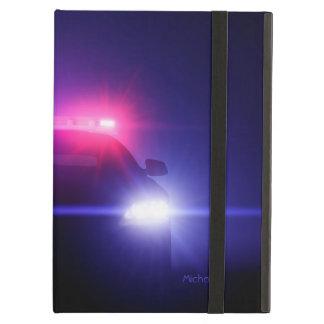 La policía captura luces completas del centelleo