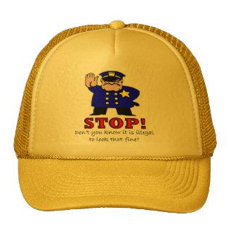 La policía coge la línea gorra