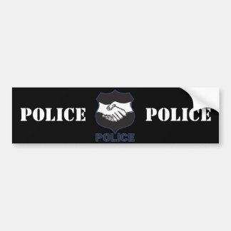 La policía da sacudida pegatina para auto