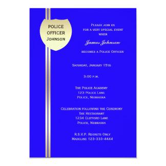 """La policía de las invitaciones de la graduación de invitación 5"""" x 7"""""""