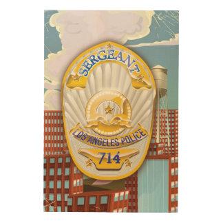 La policía de Los Ángeles Badge Cuadro De Madera