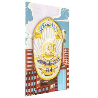 La policía de Los Ángeles Badge Impresiones De Lienzo