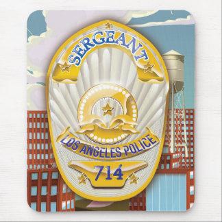 La policía de Los Ángeles Badge Mousepads