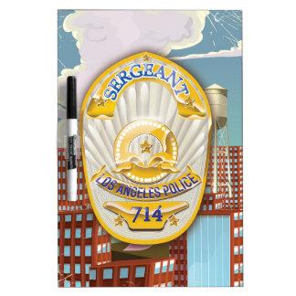 La policía de Los Ángeles Badge Tablero Blanco