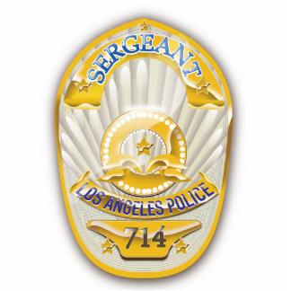 La policía de Los Ángeles California Badge. Fotoescultura Vertical