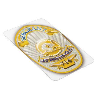 La policía de Los Ángeles California Badge. Iman