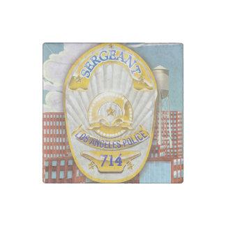 La policía de Los Ángeles California Badge. Imán De Piedra