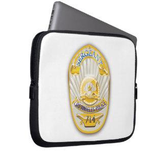 La policía de Los Ángeles California Badge. Manga Computadora