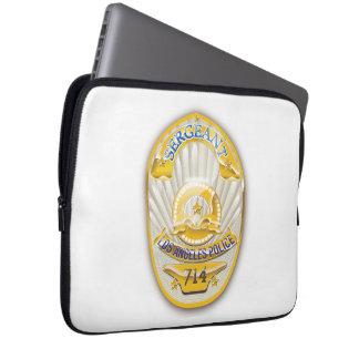 La policía de Los Ángeles California Badge. Manga Portátil