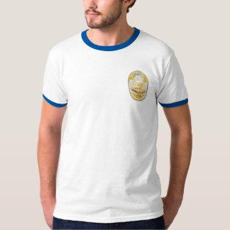 La policía de Los Ángeles California Badge. Playera