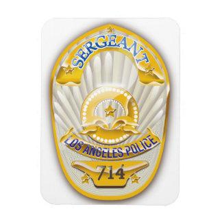 La policía de Los Ángeles California Badge. Rectangle Magnet