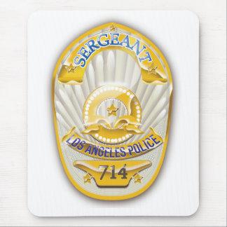 La policía de Los Ángeles California Badge. Tapete De Raton