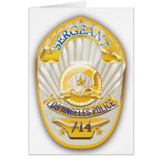 La policía de Los Ángeles California Badge. Tarjeta De Felicitación