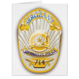 La policía de Los Ángeles California Badge. Tarjeta De Felicitación Grande