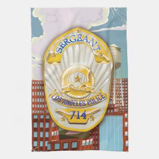 La policía de Los Ángeles California Badge. Toallas De Mano