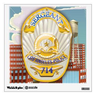 La policía de Los Ángeles California Badge. Vinilo Adhesivo