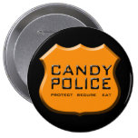 La policía del caramelo Badge Pins