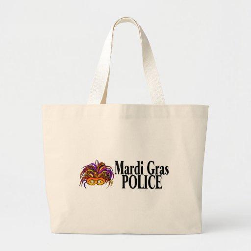 La policía del carnaval enmascara bolsa