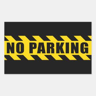 La policía del estacionamiento prohibido aventura rectangular pegatina