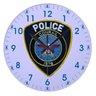 La policía del ferrocarril de Conrail remienda el Relojes De Pared