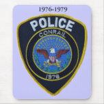 La policía del ferrocarril de Conrail remienda Mou Alfombrilla De Ratón