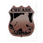 La policía del portero del hockey Badge Tarjetas Postales