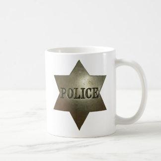 La policía del vintage Badge la taza